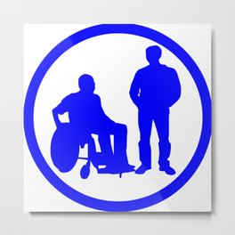 Disabled friend parking sign Metal Print