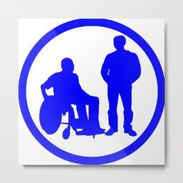 Disabled friend parking sign Metal Print