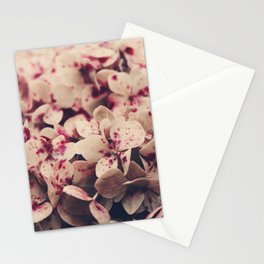 hydrangea - pink freckles Stationery Cards