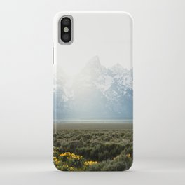 Sunset Behind the Tetons iPhone Case