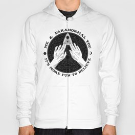 Me & Paranormal You - James Roper Design - Ouija B&W (black lettering) Hoody