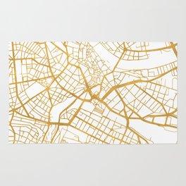 BASEL SWITZERLAND CITY STREET MAP ART Rug
