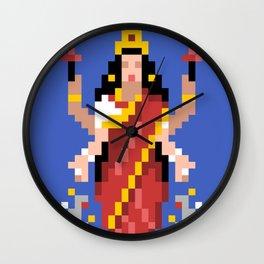 Hindu Goddess Lakshmi 8bit Avatar Wall Clock