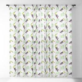 tropical pattern 2 Sheer Curtain