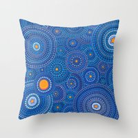 starry night Throw Pillows featuring Starry Starry Night by Elspeth McLean