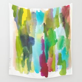 180812 Abstract Watercolour Expressionism 2   Colorful Abstract   Modern Watercolor Art Wall Tapestry