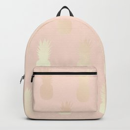 Pretty gold pineapple pattern Backpack