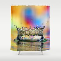 crown Shower Curtains featuring Colorful Crown by ThePhotoGuyDarren