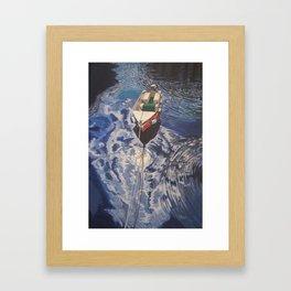 Boat on Lake Garda Framed Art Print
