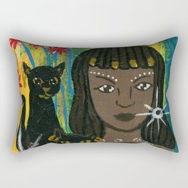 Cat Goddess Bast Rectangular Pillow