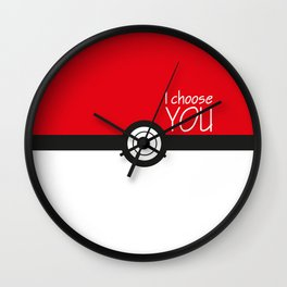 I choose you! Wall Clock