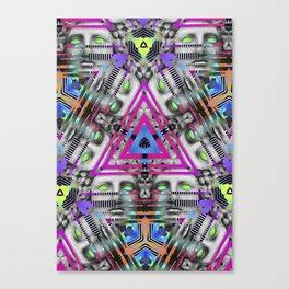 Greek Triangular Yantra Canvas Print