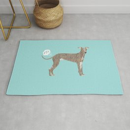 italian greyhound farting dog cute funny dog gifts pure breed dogs Rug