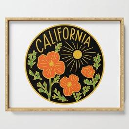 California Poppy Sun Serving Tray
