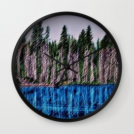 Church Pond White Mountains, New Hampshire Landscape Painting by Jeanpaul Ferro Wall Clock