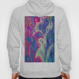 Psychedelic Abstract Colour Design 710 Hoody