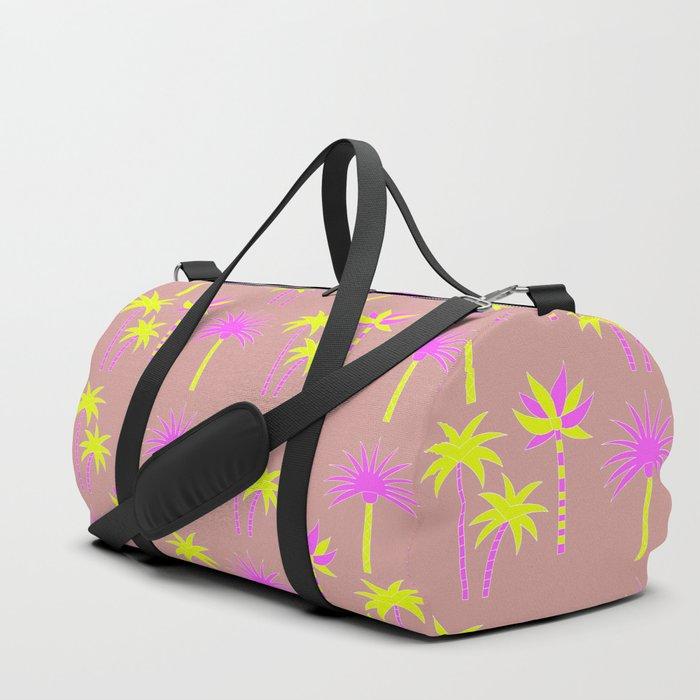 Palm Trees - Neutral & Neon Duffle Bag