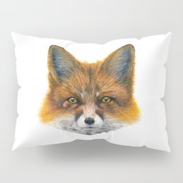 Fox face - Painting in acrylic Pillow Sham
