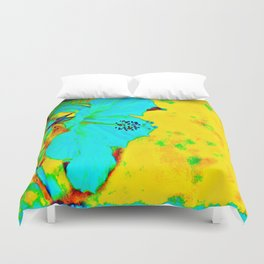 Tropical Vibrance in Hibiscus Duvet Cover