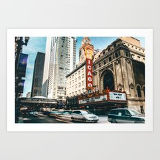 chicago strret Art Print