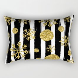 Christmas sparkle and snowflakes Rectangular Pillow