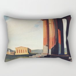 Vintage 1920s Agrigento Italian travel ad Rectangular Pillow
