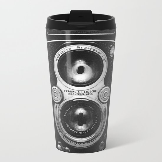 The King of Cameras - The Rolleiflex Metal Travel Mug
