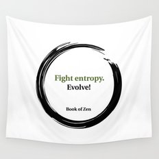 Inspirational Evolution Life Quote Wall Tapestry