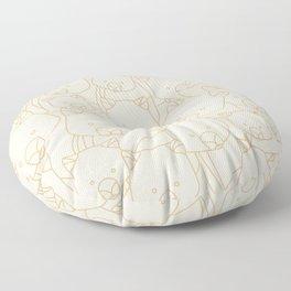 Minimalist Wombat Floor Pillow