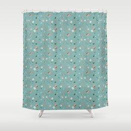 School life pattern v.2 Shower Curtain
