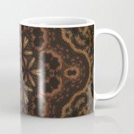 Seedlings // Rustic Geometric Pattern Brown Earthy Winter Mandala Star Circle Healing Energy Coffee Mug