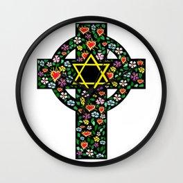 Cross of David Wall Clock