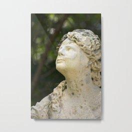 Woman in Stone Metal Print