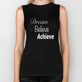 Dream Believe Achieve Rose Gold Biker Tank