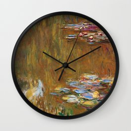 1917-Claude Monet-The Water Lily Pond Wall Clock