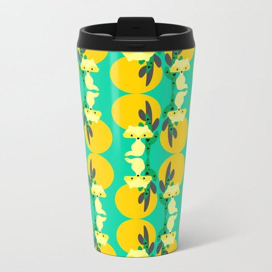 Desert fox pattern Metal Travel Mug