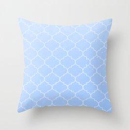 Blue Lattice Pattern Throw Pillow