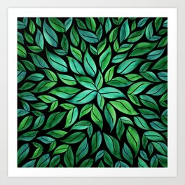 Night Leaves Art Print