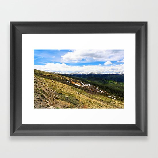 Slope Framed Art Print