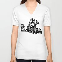 jack sparrow V-neck T-shirts featuring Jack Sparrow....Captain Jack Sparrow.. by Kramcox