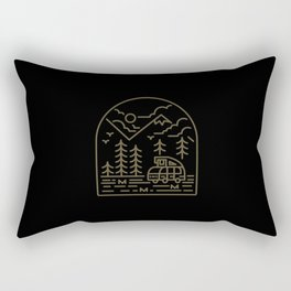Into the Mountain Rectangular Pillow