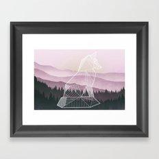 Geometric Nature - Fox (Full) Framed Art Print