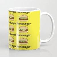 hamburger Mugs featuring Hamburger by Kris Sung