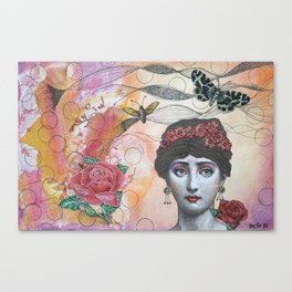 Young lady - Pink Canvas Print