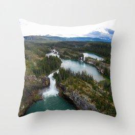 Monkman Cascades Throw Pillow