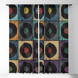 Vinyl Records Blackout Curtain