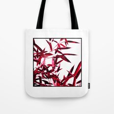 red bamboo abstract I Tote Bag