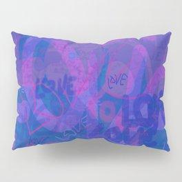 bluelove, variation on redlove Pillow Sham