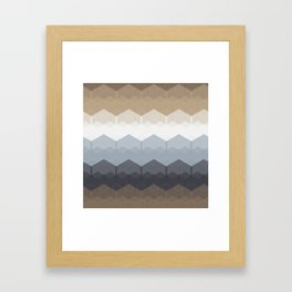 Seamless Geometric Abstract Pattern from Hexagon Intersections Framed Art Print