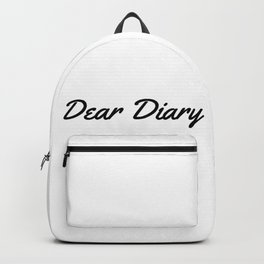 Dear Diary Backpack